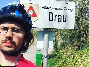 Drauradweg in Drau an der Drau - Nähe Villach