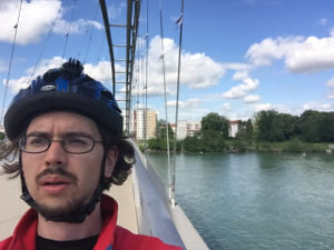 Rheinradweg Basel - Weil am Rhein - Dreiländerbrücke