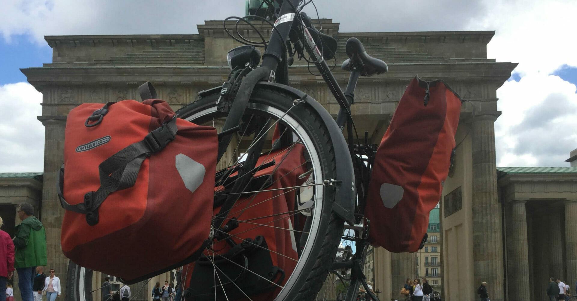 Brandenburger Tor Ortlieb Radtaschen - Fahrrad