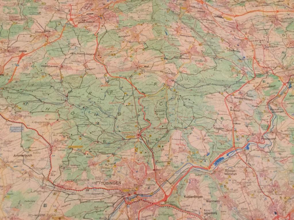 Landkarte Weil im Schönbuch Tübingen - Fahrradroutenplaner