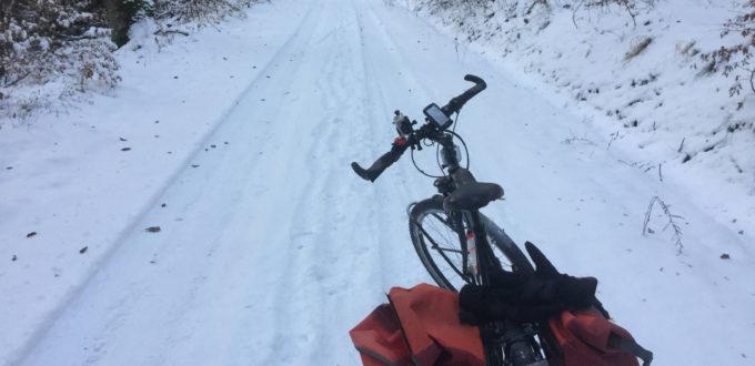 Herrenberg - Schönbuch-Radtour im Schnee