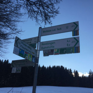 Kreuzung Alptäler Radweg GoPro verloren Nach Filsursprung in Richtung Donnstetten