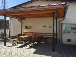 Raststätte am Flussradweg Donauradweg in Datthausen