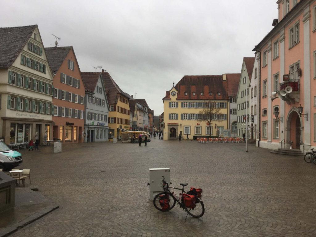 Rottenburg Marktplatz Fahrradtour