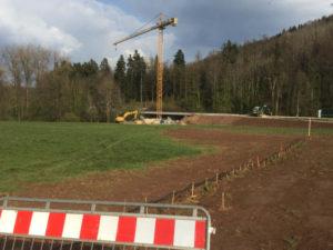 Brücke gesperrt bei Glatt zwischen Sulz und Horb auf dem Neckarradweg