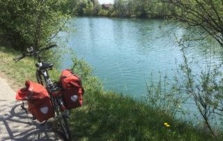 Drauradweg in Villach an der grünen Drau