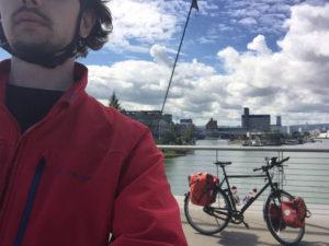 Dreiländerbrücke - Weil am Rhein - Hagenau - Basel: Rheinradweg