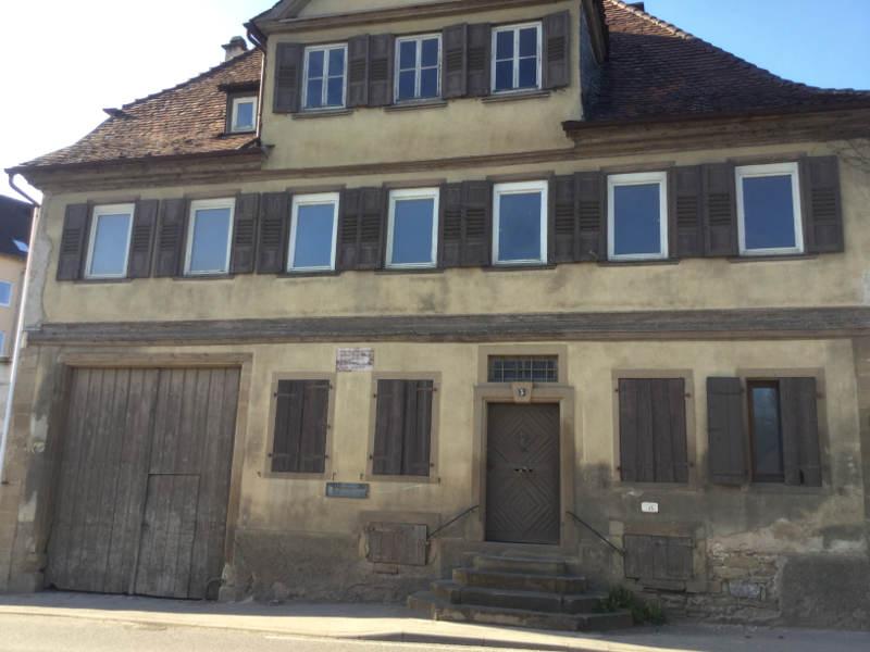 Lauffen am Neckar Hölderlinhaus Neckartalradweg nähe Heilbronn - Friedrich Hölderlin Geburtshaus