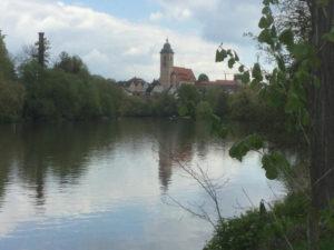 Nürtingen von weitem Neckartalradweg