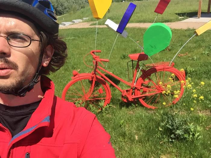 Neunburg am Rhein Fahrräder am Rhein - Rheinradweg