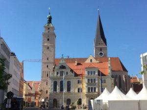 Ingolstadt altes Rathaus auf meinem Donauradweg-Erfahrungsbericht gesehen.