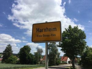 Marxheim Stadtschild Donauradweg-Erfahrungsbericht