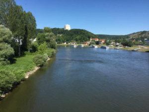 Kelheim und die Donau am Donauradweg