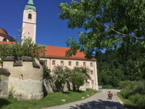 Kloster Weltenburg bei Kelheim mit meinem Fahrrad - nahe dem Donauradweg
