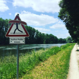 Günzburg - Paddler ohne Kopf