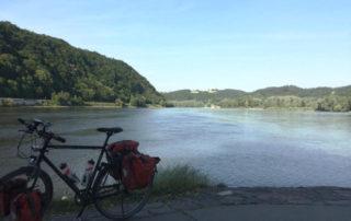 Passau in Bayern am Dreiflüsseeck mit meinem Fahrrad - Donauradweg 2017