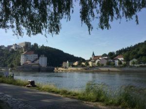 Hier endet mein Donauradweg nach Passau - Dreiflüsseeck