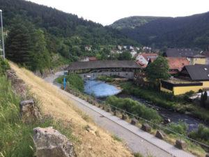 Forbach Holzbrücke Hängebrücke - Tour de Murg - Murgtalradweg