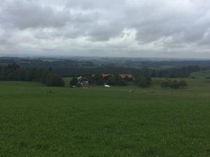 Königssee-Bodensee-Radweg Erfahrungsbericht - Aussicht Rutzhofen Teil von Stiefenhofen