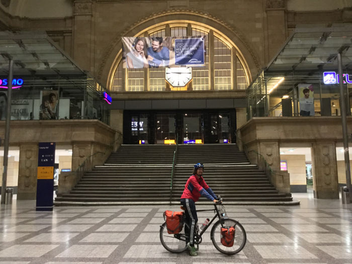 Berlin Leipzig Radweg - Ende im Hauptbahnhof Leipzig