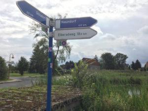 Niedergörsdorf Wegweiser Elberadweg Berlin-Leipzig-Radweg Erfahrungsbericht