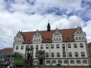 Rathaus Lutherstadt Wittenberg - Berlin-Leipzig-Radweg Erfahrungsbericht
