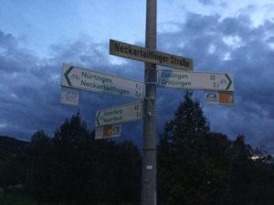 Fahrrad-Wegweiser Aichtal Museumsradweg Hohenzollernradweg