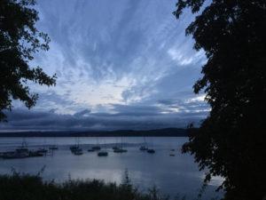 Morgendämmerung in Konstanz-Staad Erfahrungsbericht Bodenseeradweg - Bodensee umrunden