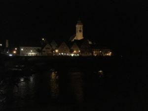 Nürtingen bei Nacht am Museumsradweg