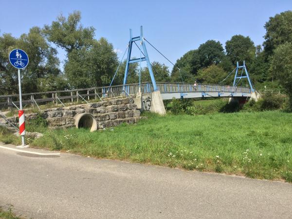 Reutlingen-Mittelstadt Brücke am Neckarradweg