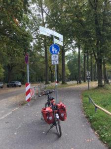 Rheinstrandbad Rappenwört - Karlsruhe-Daxlanden. Start meiner Radtour am Rhein.