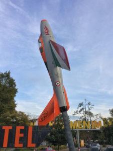 Speyer Technikmuseum Rheinradweg - Eingang mit Rakete