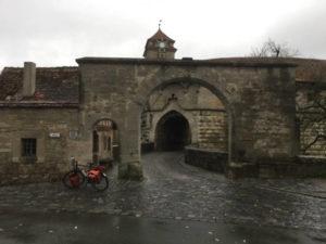 Rothenburg ob der Tauber - Mauer - Fahrrad