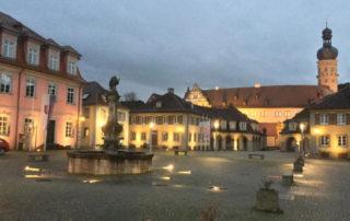 Weikersheim Taubertalradweg Marktplatz