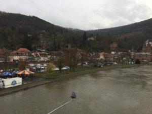 Mainradweg Wertheim bis nach Miltenberg geschafft - Blick von der Miltenberger Brücke