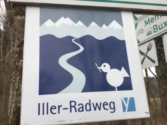 Illerradweg - Logo Emblem Oberstdorf Buxheim Ulm