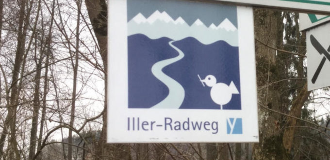 Illerradweg Logo Schild Oberstdorf Buxheim Ulm Iller Radweg