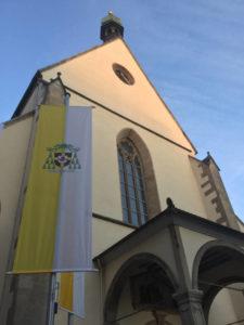 Dom St. Martin - Rottenburg am Neckar - Vatikan-Fahne - Hohenzollern-Radweg