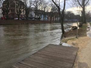 Tuttlingen Donau Hochwasser Hohenzollernradweg