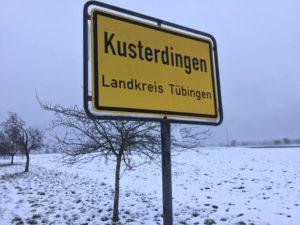 Kusterdingen Ortsschild Radtour