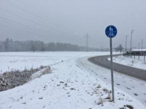 Zwischen Kusterdingen und Wankheim Fahrradschild Radtour