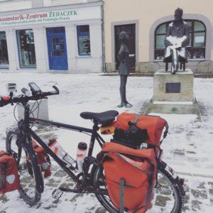 Friedrich Nietzsche Philosoph - Naumburg an der Saale - Mit Fahrrad - Unstrutradweg