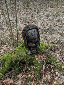 Kunst am Unstrut-Radweg - Baumstumpf