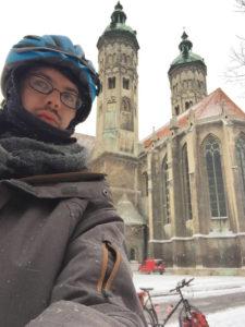 Naumburg an der Saale - Naumburger Dom - Ich mit Fahrrad - Saaleradweg