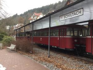 Fahrradmitnahme Bahn - alter Zug Nordschwarzwald