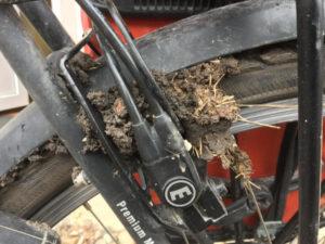 Schlamm am Fahrrad - Unstrut-Radwag