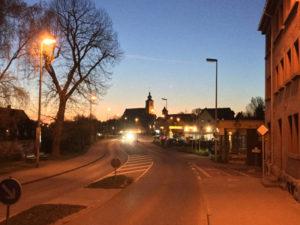 Crailsheim bei Nacht - Kocher-Jagst-Radweg