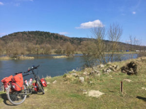 Isarmünd Isarmündung Deggendorf Fahrrad Isar Donau