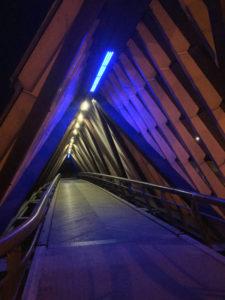 Remseck am Neckar - blaue Brücke Neckar Rems - Neckarradweg - Remstal-Radweg