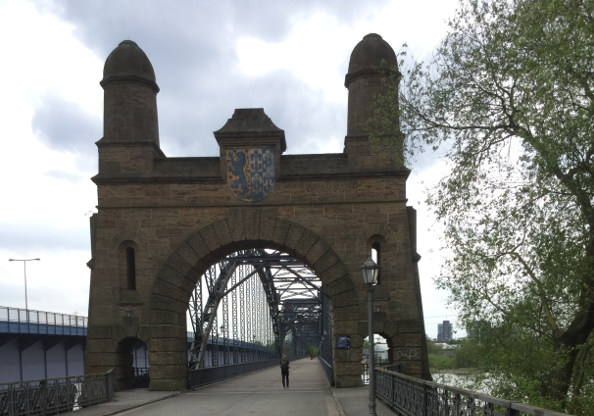 Alte Harburger Elbbrücke - Süderelbe - Hamburg-Bremen-Radweg